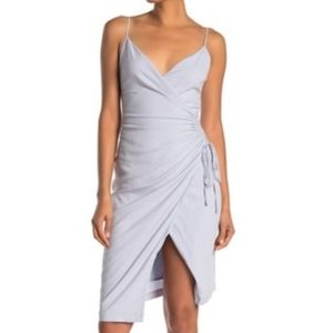 NWT Nordstrom Aerin Dusty Blue Ruched Dress